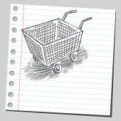 Scribble shopping cart