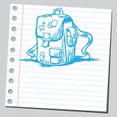 Scribble blue school bag