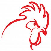 Red rooster design