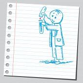 Hand drawn chemist