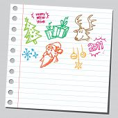 Sketch of a Christmas symbols