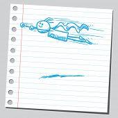 Desenho ilustração vetorial de estilo de um super-herói voar