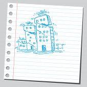 Sketchy illustration of an earthquake