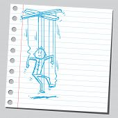Sketchy illustration of a puppet