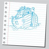 foto of noah  - Sketchy illustration of a Noah - JPG