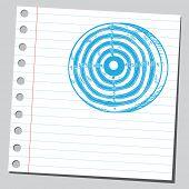 Sketchy illustration of a dartboard