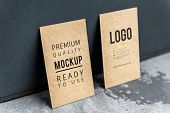 Business card and name card mockup poster
