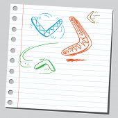Sketch of a boomerangs