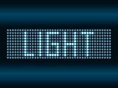 Led scoreboard vector