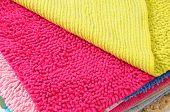 Vibrant carpets.