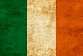 pic of irish flag  - Irish flag with a vintage and old look - JPG