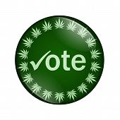 Vote To Legalize Marijuana Button