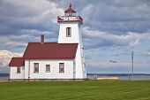 Wood Islands Lighthouse located in eastern Prince Edward Island, Canada.