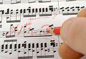 Notas de música compondo
