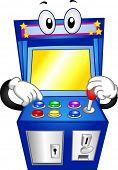 Mascot Illustration of an Arcade Game Pushing its Buttons