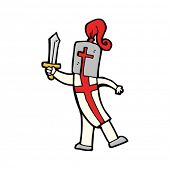 foto of arthurian  - cartoon knight - JPG