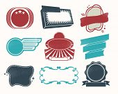 Retro vintage labels and badges for web and print