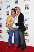 LOS ANGELES, CA - SEP 8: Chuck Zito, David Labrava at the 'Sons of Anarchy' season 5 premiere screen