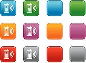 Color Buttons With Mobile Phone Icon