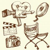 Cinema and photography vintage set