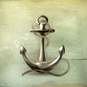 Anchor, old-style vector