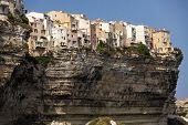 mediterranean Bonifacio city on cliff in Corsica island, France