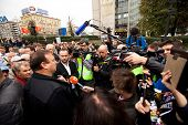 MOSCOW - 15 SEPTEMBER: Opposition activist Gennady Gudkov speaks at a  an anti-Putin protest  rally