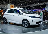 MOSCOW-SEPTEMBER 8: Electric Car Renault ZOE at the Moscow International Motor Show on September 8, 2012 in Moscow, Russia