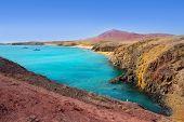 Lanzarote Playa del Pozo beach in costa Papagayo Canary Islands