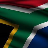 Rendered South African Square Flag