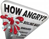 stock photo of annoying  - A thermometer measuring your anger level - JPG