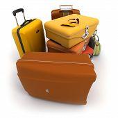 Luggage Kit In Ochre Shades