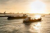 Ships in Nieuwe Waterweg