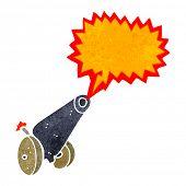 retro cartoon cannon firing
