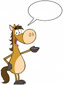 Horse Character With Speech Bubble