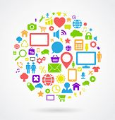 social media icons bubble