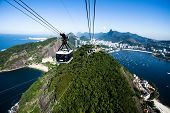 foto of ipanema  - The cable car to Sugar Loaf in Rio de Janeiro - JPG
