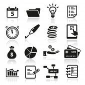 Verzameling van productiviteit en time management icons