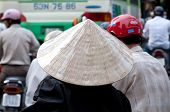 Woman Wearing A Traditional Vietnamese Conical Hat, Ho Chi Minh City