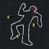 picture of accident victim  - Crime scene illustration - JPG