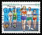 Postage Stamp Australia 1990 Running, Australian Sport
