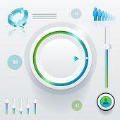 Vektorelemente Ui (User Interface) und Grafiken.