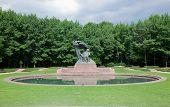 The Chopin Statue in Lazienki Park aka Royal Baths park, Warsaw, Poland.