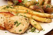 Escalope With Asparagus