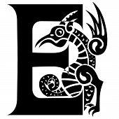 Dragon Letter E