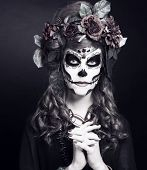 pic of gothic hair  - Santa Muerte - JPG