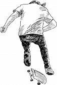 Bouncing Skateboarder