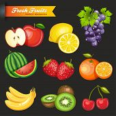 Collection of Vector Fruits