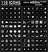 Internet & Media - Set de 110 iconos