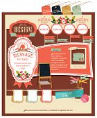 Retro style elements design